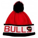 MITCHELL And NESS - Bonnet à pompon NBA - Chicago BULLS - Block Cuff - MN-NBA-KK39Z-CHIBUL-RED-OS