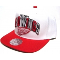 MITCHELL And NESS - Casquette Snapback Detroit Red WINGS - NHL - Black Tri Pop
