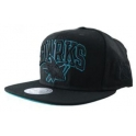 MITCHELL And NESS - Casquette Snapback San José SHARKS - Black Taw Colp
