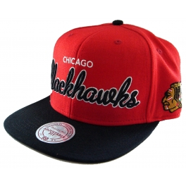 Mitchell And Ness - Casquette Snapback Chicago Blackhawks - NHL - Script