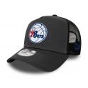 New Era - Casquette Trucker Dark Base - Philadelphie 76ers