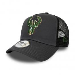 New Era - Casquette Trucker Dark Base - Milwaukee Bucks