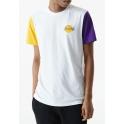 New Era - T-shirt NBA Color Block - Los Angeles Lakers