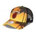 New Era - Casquette Trucker Summer City - Miami Heat