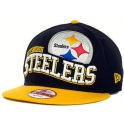 New Era - Casquette Snapback  Pittsburgh STEELERS - Wave - Yellow