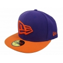 New Era - Casquette NE FLAG 59Fifty - Deep Purple / Orange