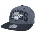 MITCHELL And NESS - Casquette Snapback Los Angeles Kings - AllWhite - Grey